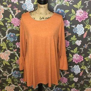 Pumpkin 🧡 bell sleeve shirt NWT